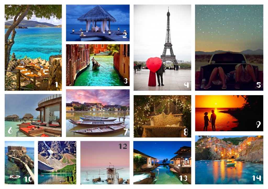 14 Destinations for Valentines Day